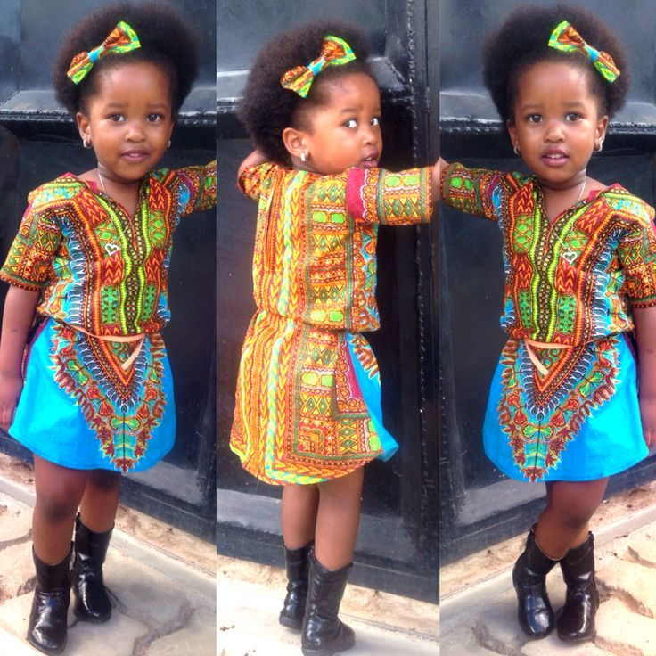 Ankara-Dress-Dashiki-Style Ankara Styles for Babies-19 Adorable Ankara Dresses For Kids 2017