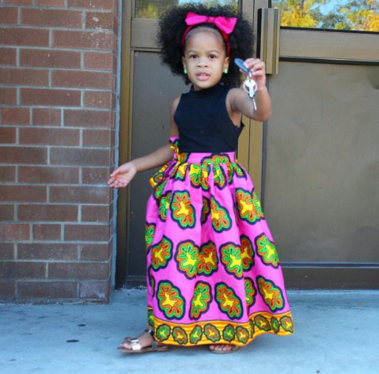 Trendy-Ankara-Maxy-Skirt-Style Ankara Styles for Babies-19 Adorable Ankara Dresses For Kids 2017