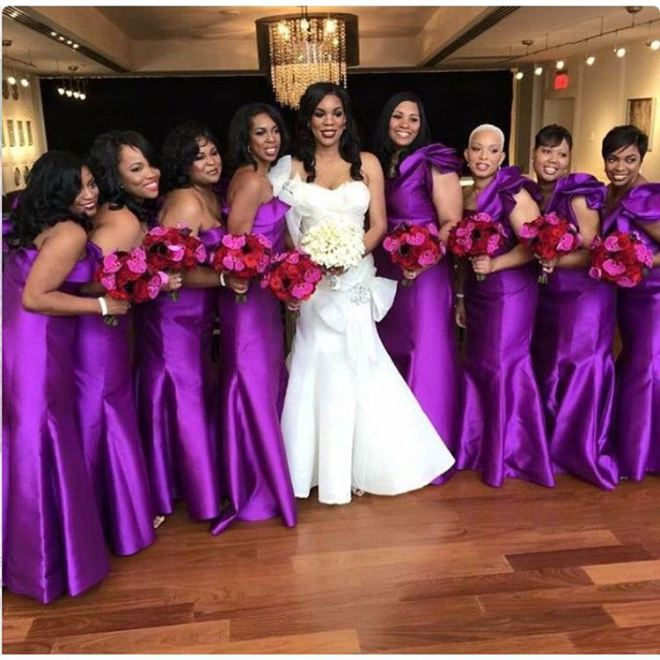 asoebi-bridesmade-2 2017 Aso-Ebi styles – 18 Latest Lace and Aso Ebi Designs These Days