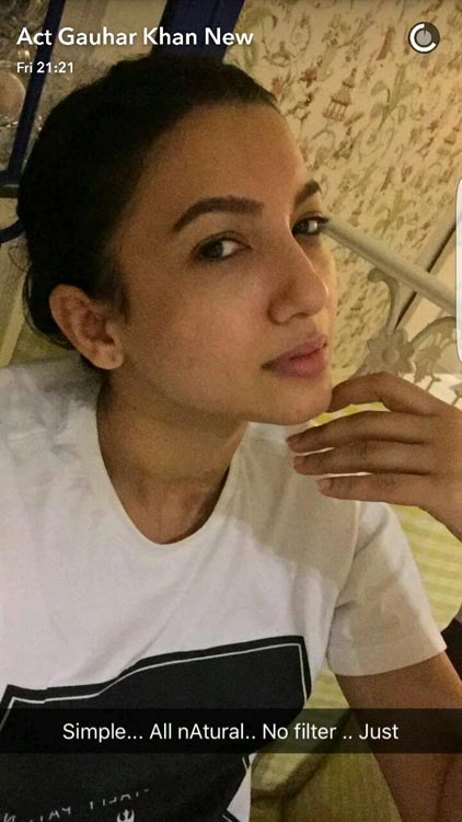 gauhar-khan-1 Indian Celebrity Snapchats-25 Indian Celebrity Snapchat Accounts to follow