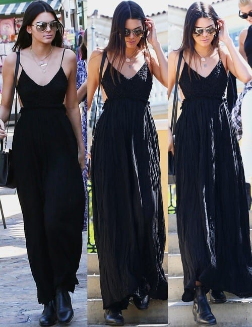 Kendal-Jenner-Black-Dress 40 Most Stylish Kendall Jenner Outfits To Copy This Year