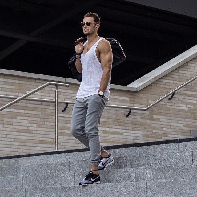 Sleeve-less-street-style 50 Most Hottest Men Street Style Fashion to Follow These Days