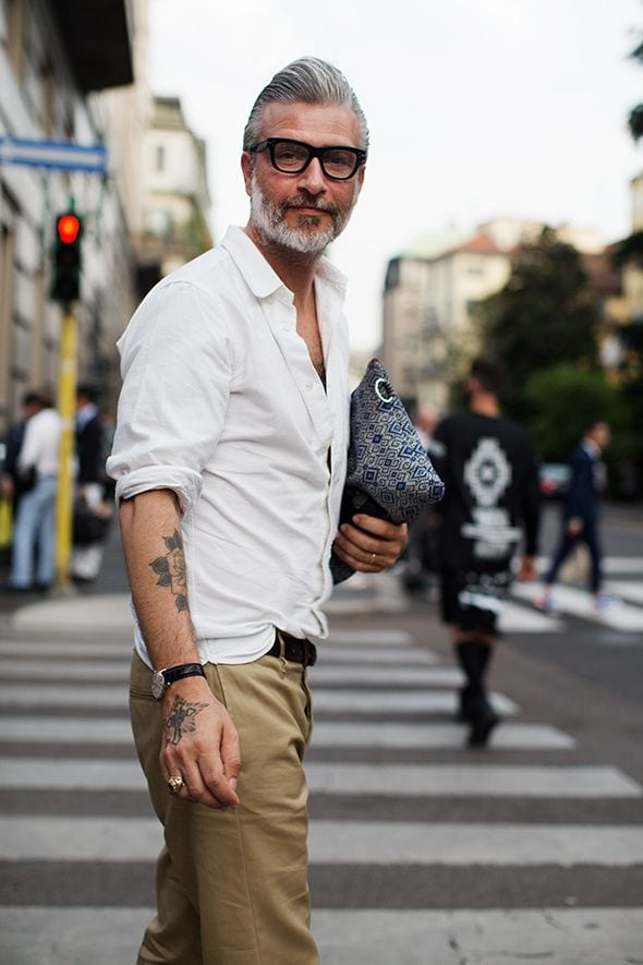 men-over-40-street-fashion 50 Most Hottest Men Street Style Fashion to Follow These Days