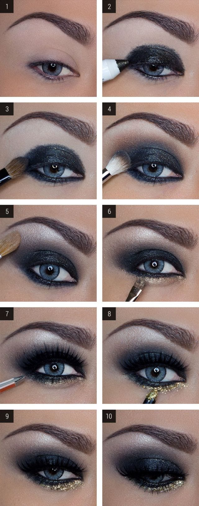 step by step eye makeup tutorial for dark skin girls