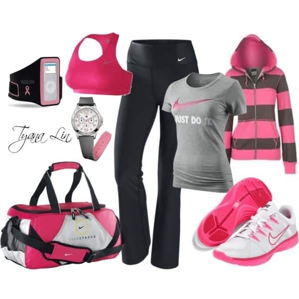 Branded-sports-wear-women Winter Workout Outfits-15 Cute Winter Gym Outfits for Women