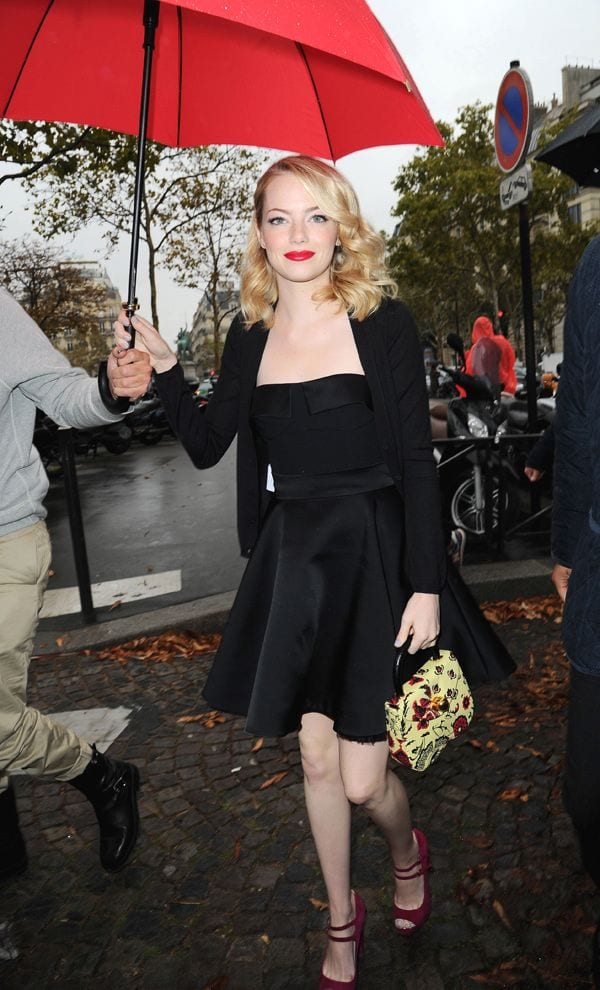 Emma Stone in Miu Miu shoes