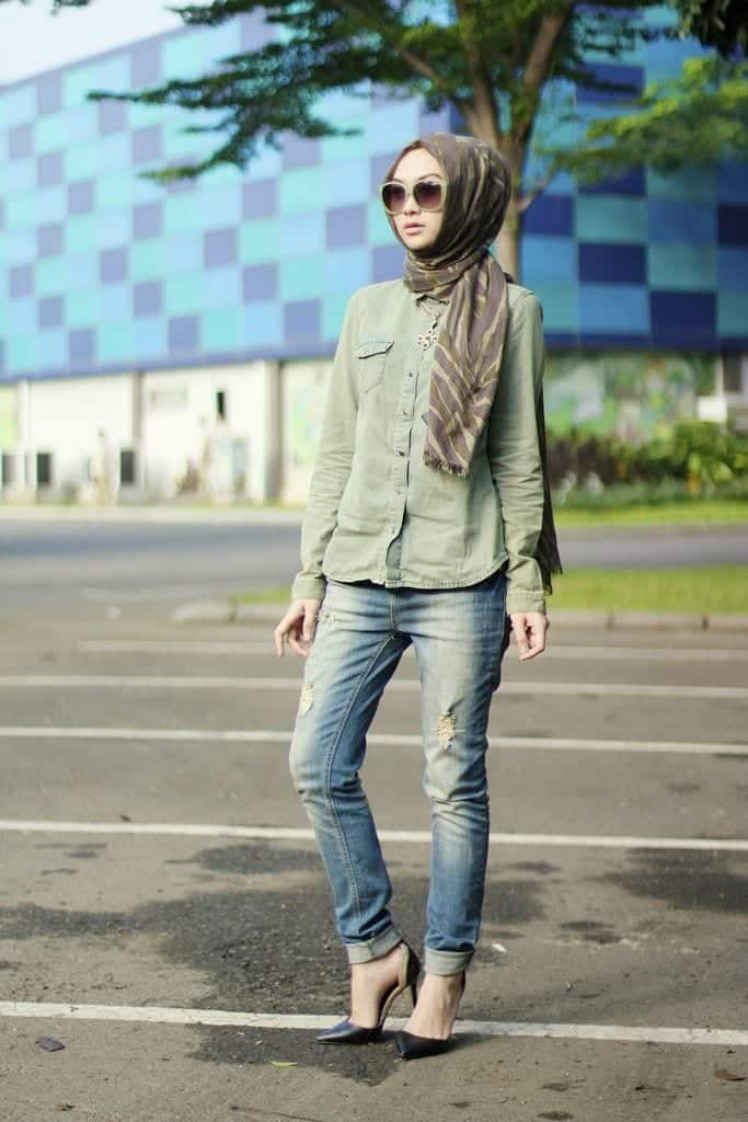 Hijab with Skinny Jeans