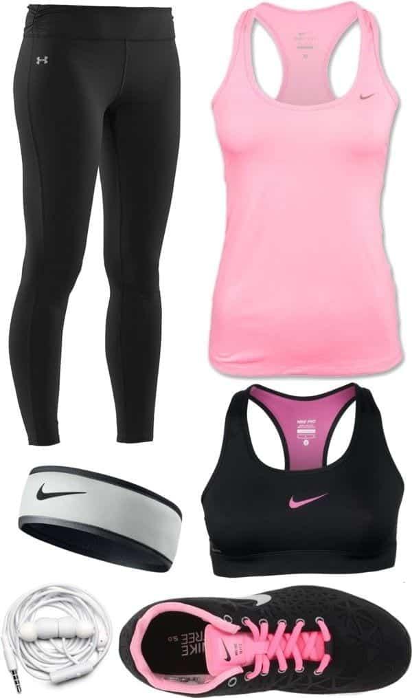 Pink nike sports wear