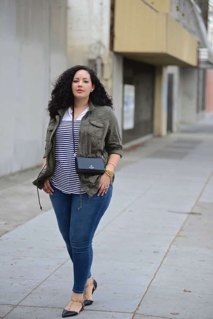 how plus size women should wear skinny jeans