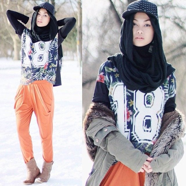 indahnadapuspita-Hijab-Looks 18 Cute Ways to Tie Hijab with Different Outfits