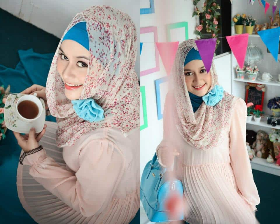 moslem-hijab Hijab Party Style-22 Elegant Ways to Wear Hijab for Parties