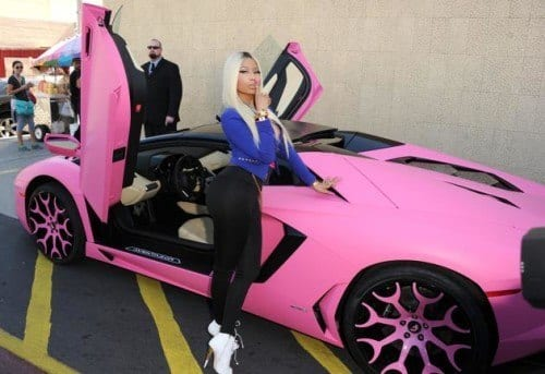 nicki-500x343 Top 5 Female Celebrities With Most Expensive Cars in World