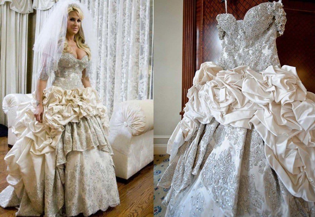 zolciak-1024x705 10 Celebrities Who Wore World Most Expensive Wedding Dresses
