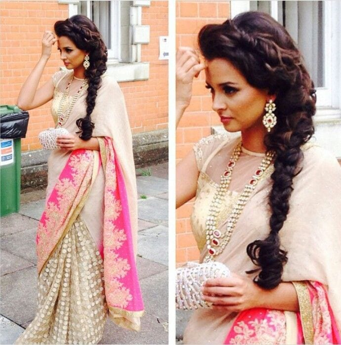 Hairstyles For Short Hair On Lehenga : ... Hairstyles for Saree -20 Cute Hairstyles to Wear with Saree