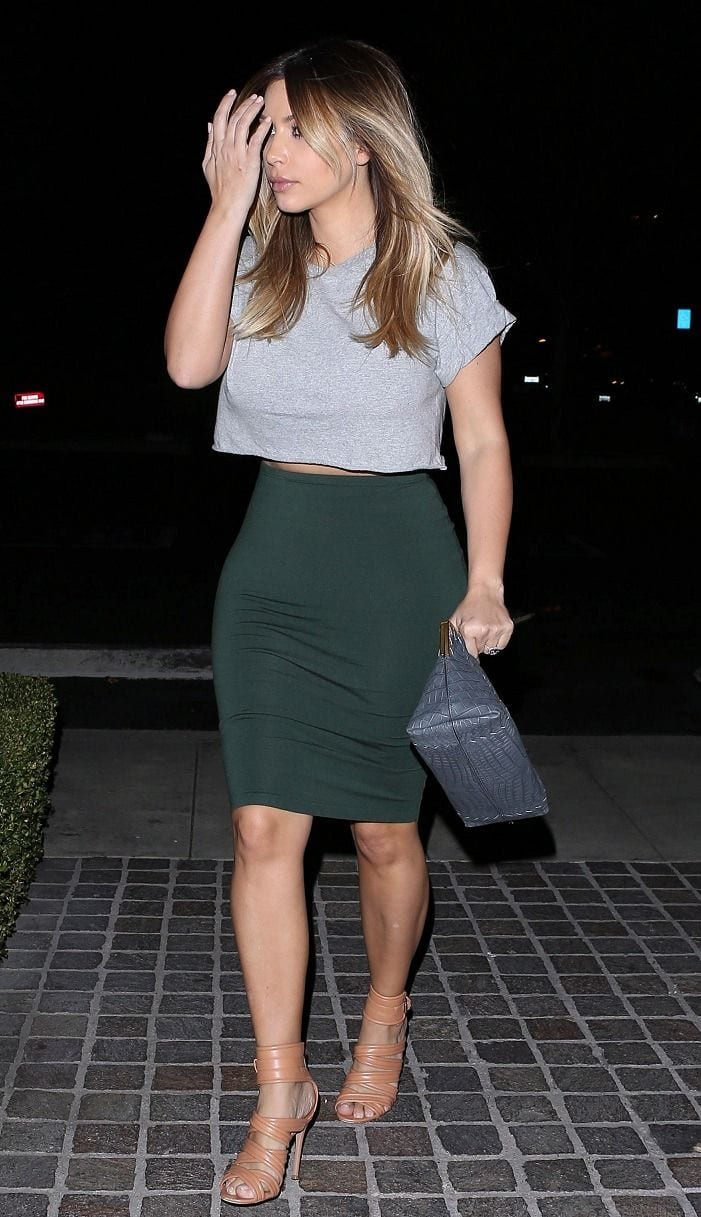 30 Most Stylish Kim kardashian's Outfits Ablazing Social Media