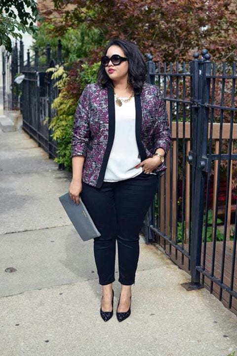 Plus Size Ladies Outfits with Skinny Jeans (10)