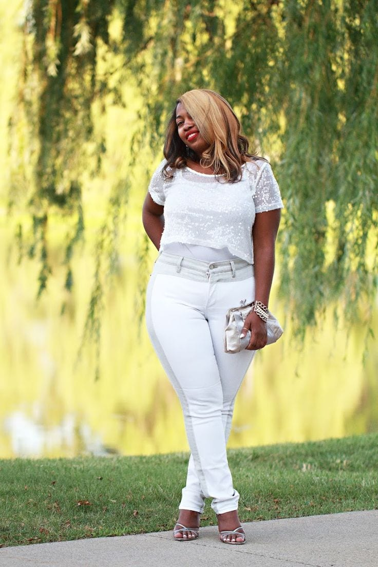Plus Size Ladies Outfits with Skinny Jeans (11)