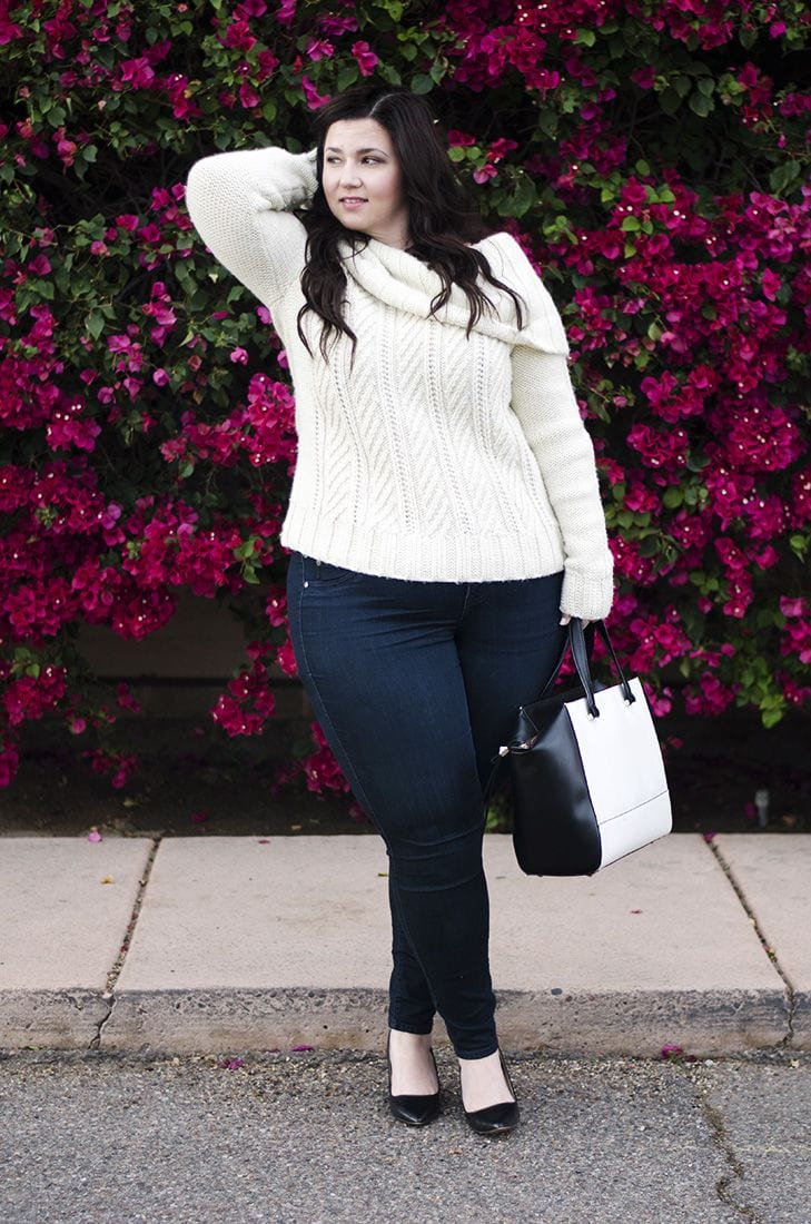 Plus Size Ladies Outfits with Skinny Jeans (8)