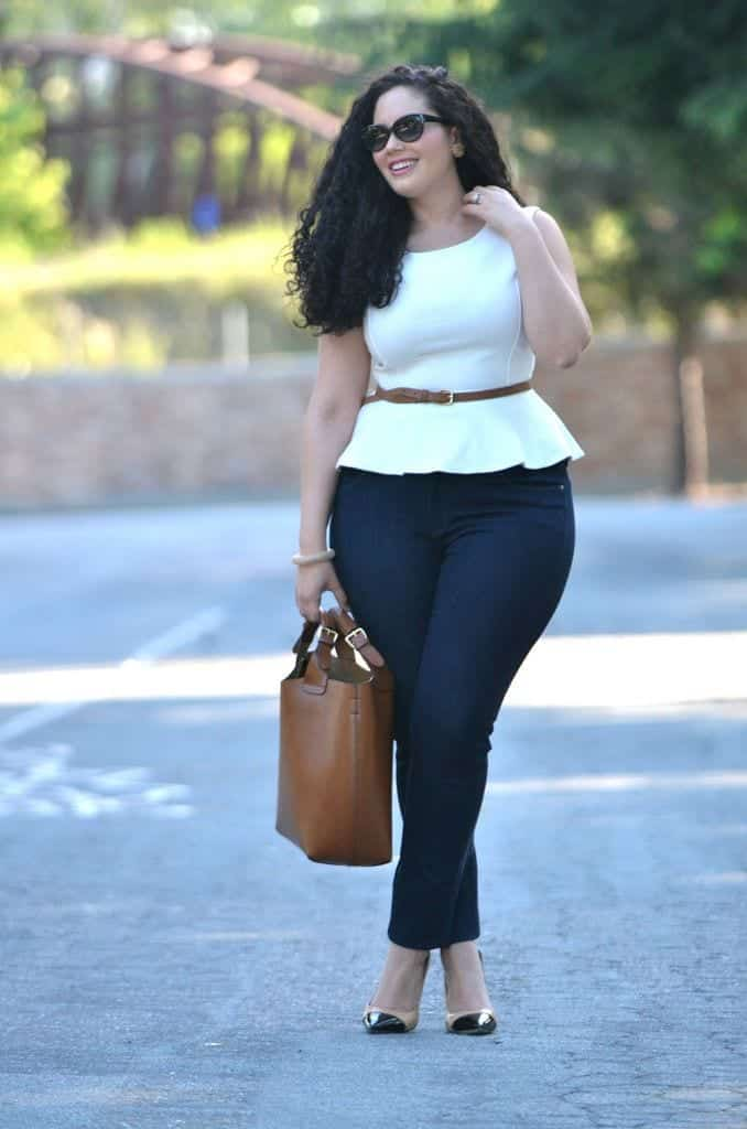 Plus Size Ladies Outfits with Skinny Jeans (1)