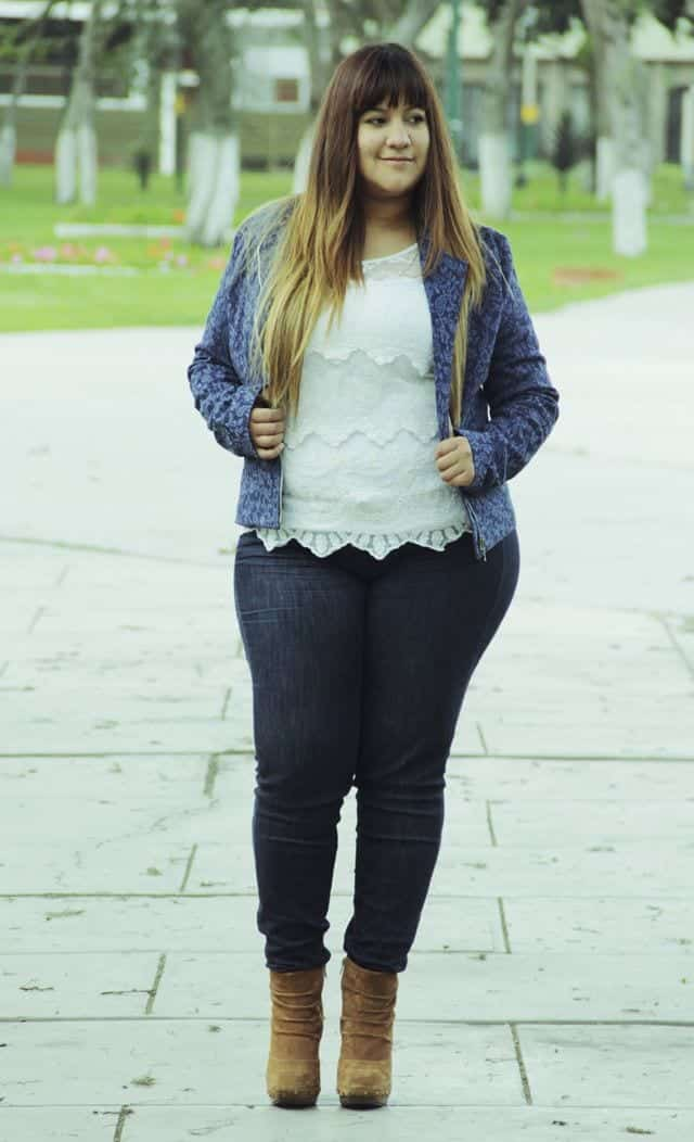 Plus Size Ladies Outfits with Skinny Jeans (9)