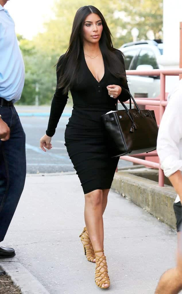 celebrities-movie-date-style 30 Most Stylish Kim kardashian's Outfits Rocking Social Media