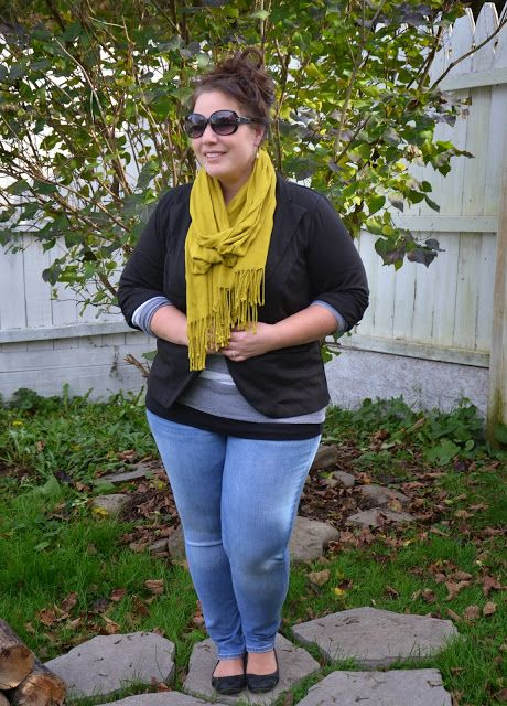 Plus Size Ladies Outfits with Skinny Jeans (5)