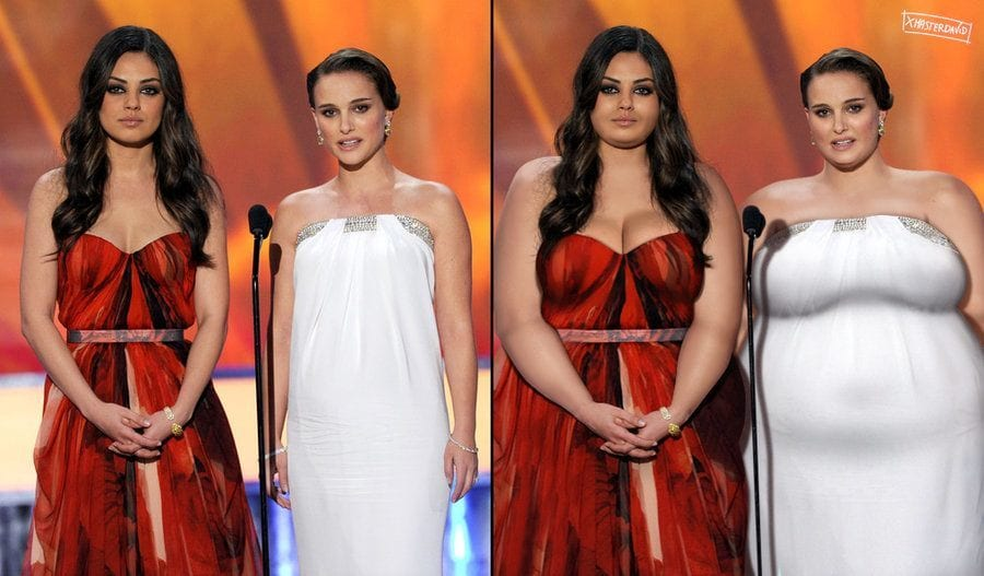 mila_kunis_and_natalie_portman___ssbbw___b___a__by_xmasterdavid-d90x3lo How Would  These Top Celebrities Look Like If They Were Plus Size-Amazing Art