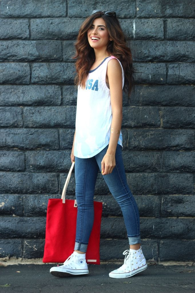 sportys-chic-look-with-converse Women Sporty Style-15 Ways to Get a Fashionable Sporty Look