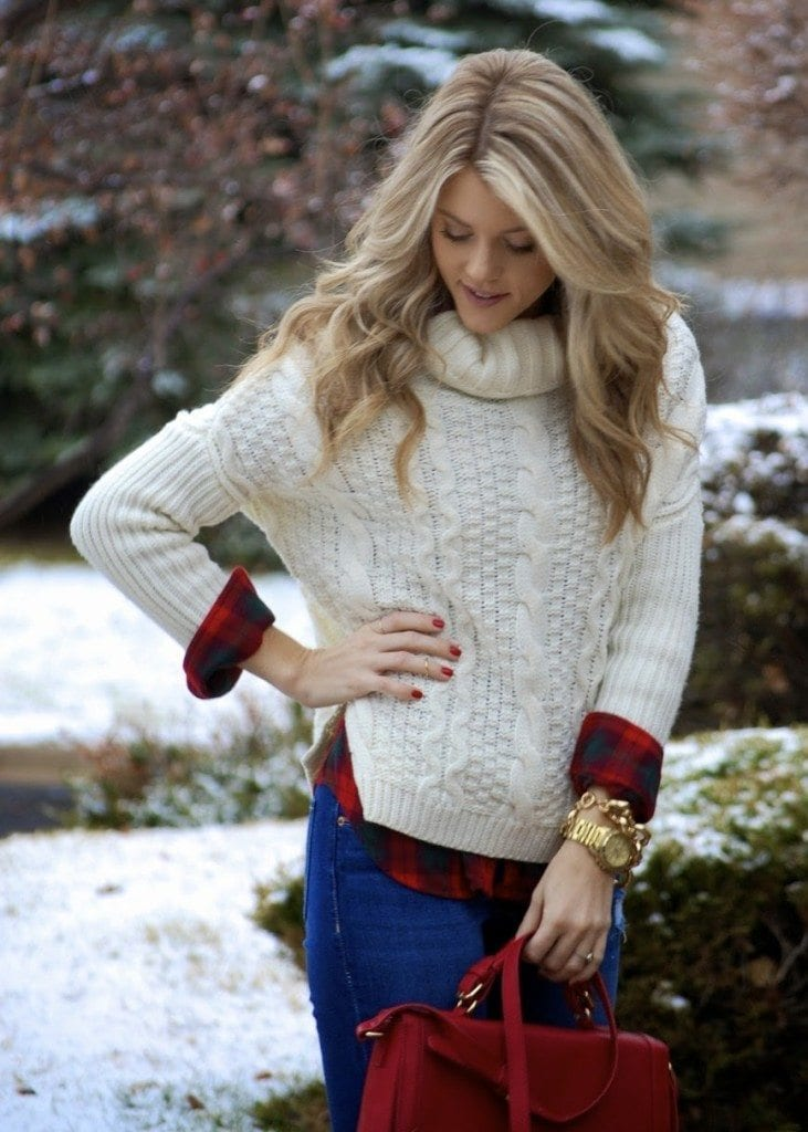 teen-girls-sweater-style-731x1024 18 Cute Outfits to Wear With Knitwear for Girls this Winter