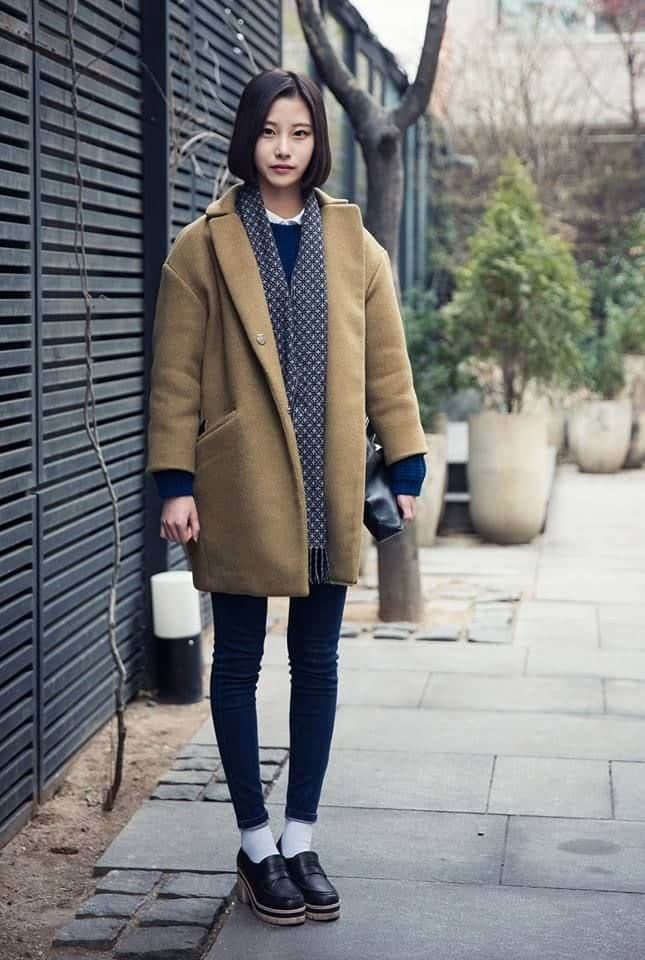 Street style fashion women winter