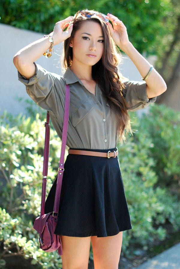 4f661bb74d5c2e52a6d1468634e6dcdb Skater Skirts Outfits -20 Ways to Style Skater Skirts for Chic Look