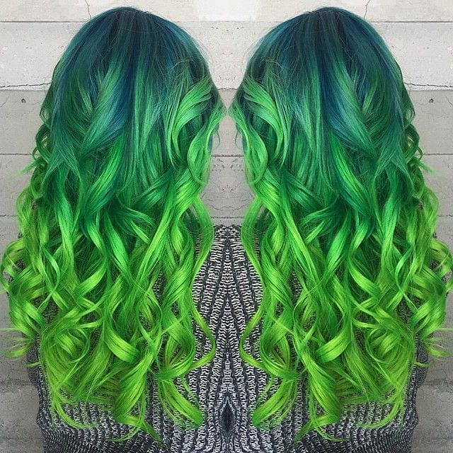 Green hairstyles for girls (8)