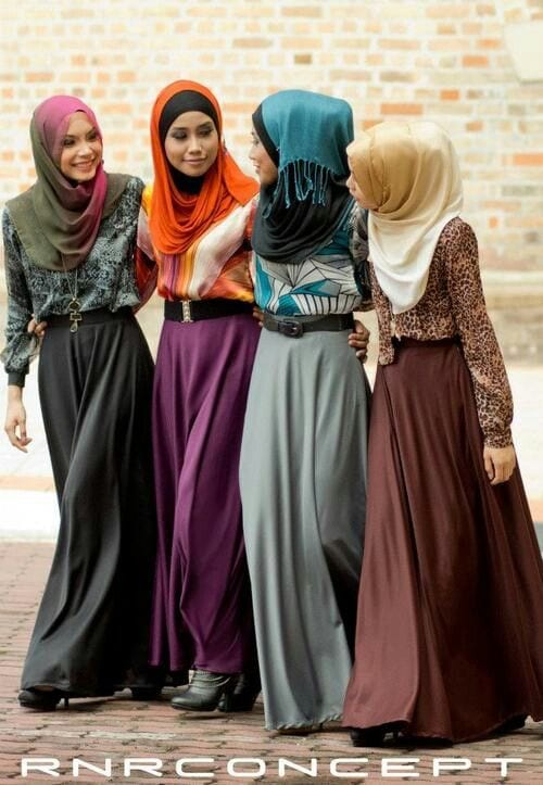 828b7dd0198121a36d30d02e5514f10d Hijab Skirt outfits-24 Modest Ways to Wear Hijab with Skirts