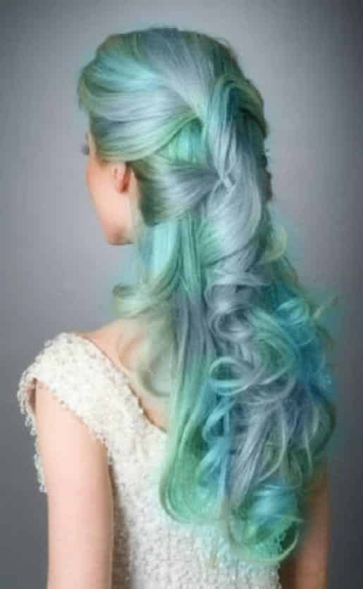 Green hairstyles for girls (11)