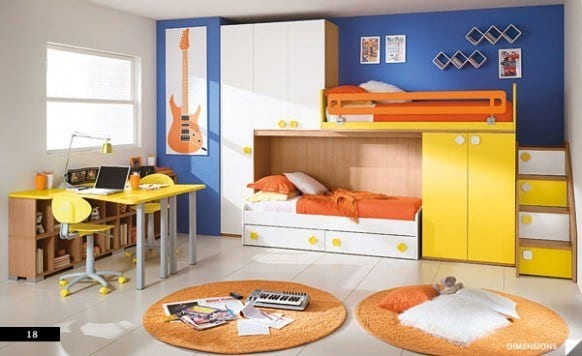Cool-Storage-Bunkbeds-582x356 Kids Room Decoration Ideas- 12 DIY Ideas Your Kids will Love