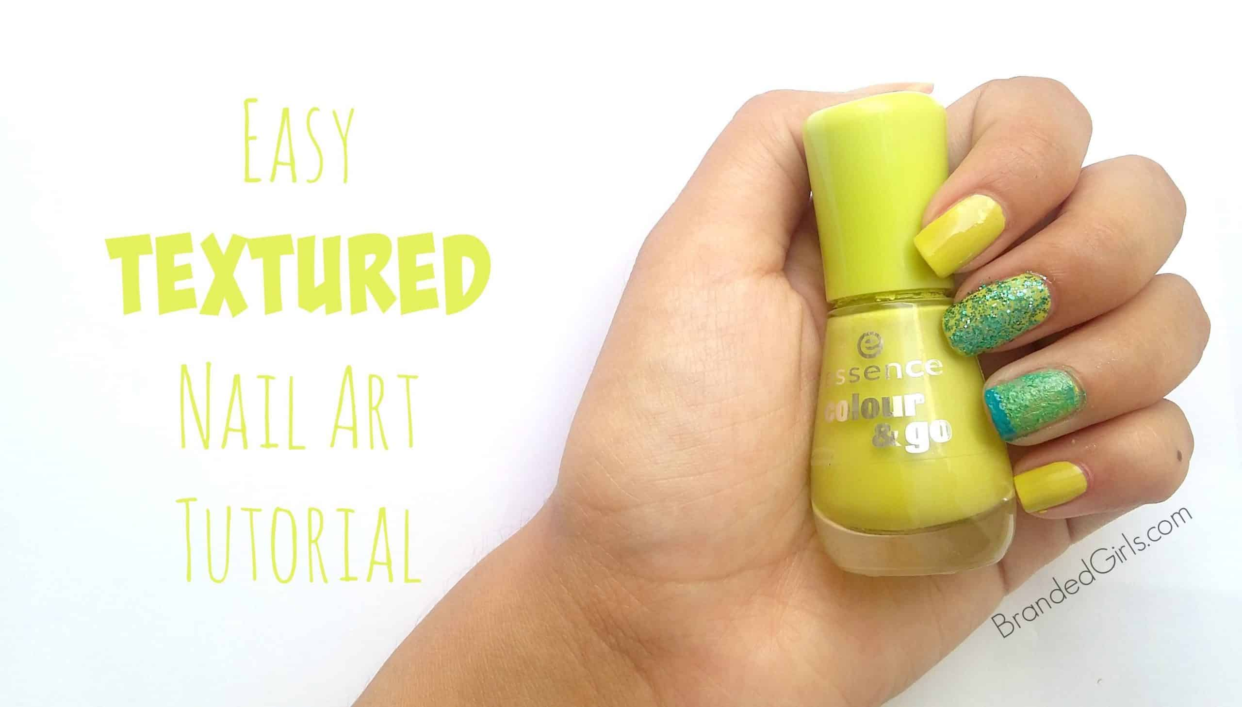 Easy diy textured nail art design step by step tutorial prinsesfo Image collections