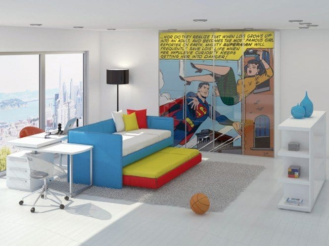 Superman-room-665x498 Kids Room Decoration Ideas- 12 DIY Ideas Your Kids will Love