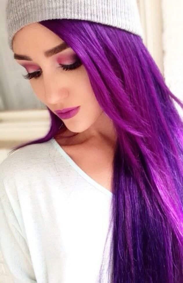 colored-hairstyles-for-winters Purple Hairstyles- These 50 Cute Purple Shade Hairstyles You Cant Resist Trying