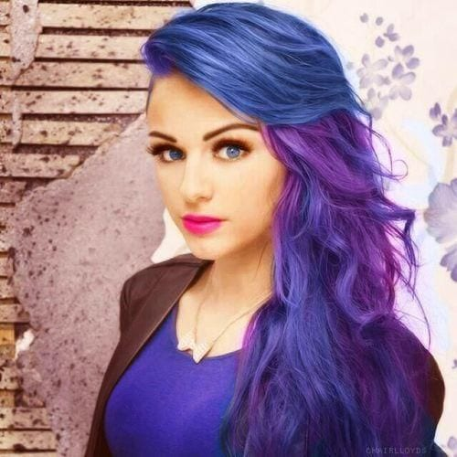 different-shades-of-purple-hairs Purple Hairstyles- These 50 Cute Purple Shade Hairstyles You Cant Resist Trying