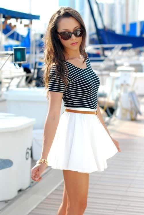 f3ce841c2067a015f79ad32d5a64a1be Skater Skirts Outfits -20 Ways to Style Skater Skirts for Chic Look
