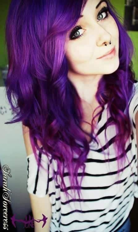 purple-dyed-hair Purple Hairstyles- These 50 Cute Purple Shade Hairstyles You Cant Resist Trying