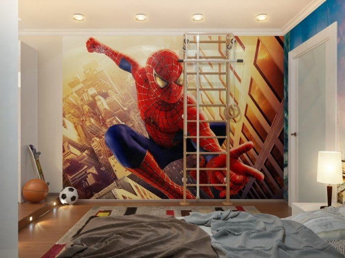 spiderman-down-lit-boys-room-with-ladder-700x525 Kids Room Decoration Ideas- 12 DIY Ideas Your Kids will Love
