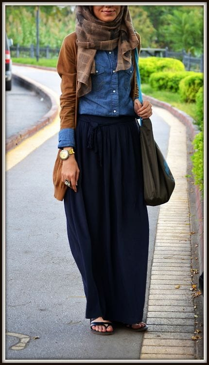 04f3df26e149548fe1403d337f3fd58f Hijab Skirt outfits-24 Modest Ways to Wear Hijab with Skirts