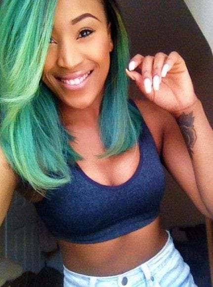 Green shade hairstyles for black girls