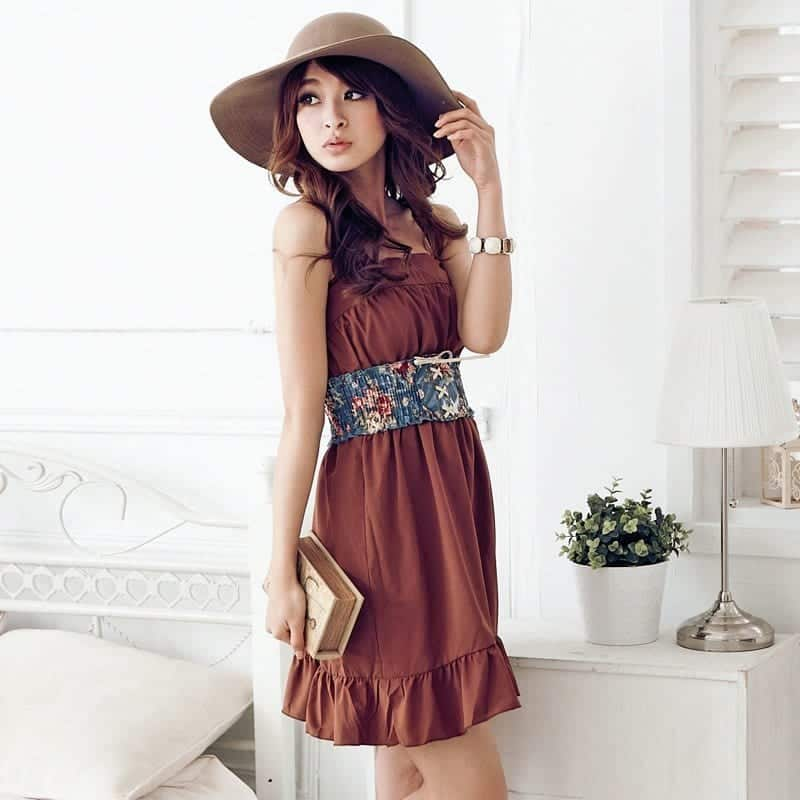 Original Korean Women Career In Simple Style Dresses Fashion Trends 2013  V