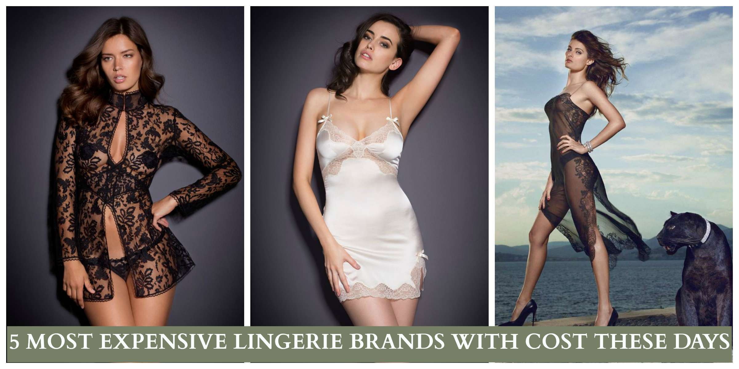 THE COST OF MOST EXPENSIVE LINGERIES