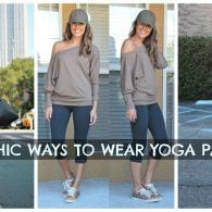 Yoga Pants Outfits-18 Ways to Wear Yoga Pants for Chic Look