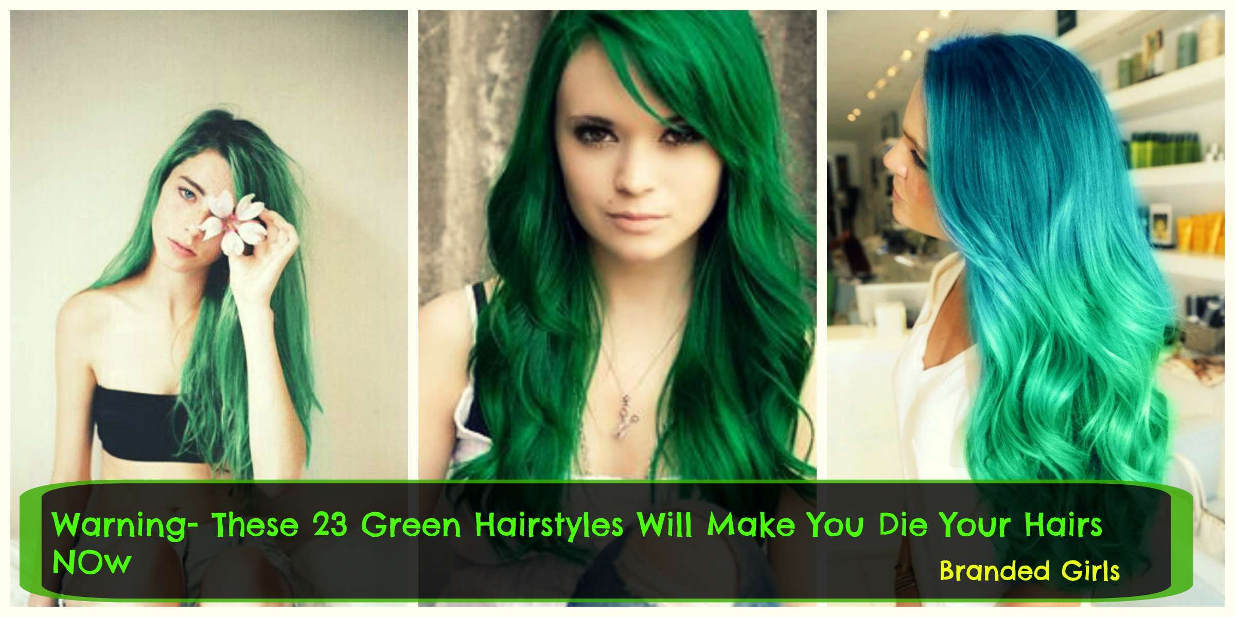 green hair fashion