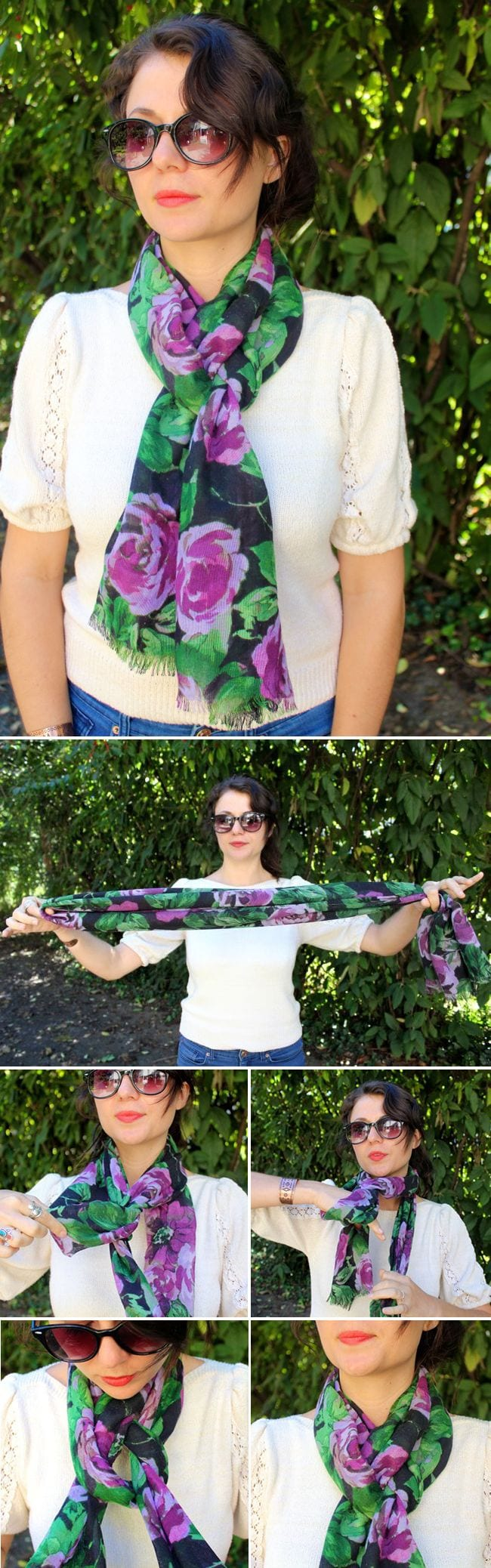 how-to-tie-a-scarf-tutorials 5 Trendy Scarves Wrapping Styles to Compliment Your Outfit