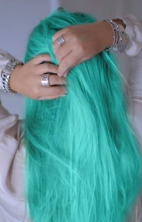 light green shade hairs